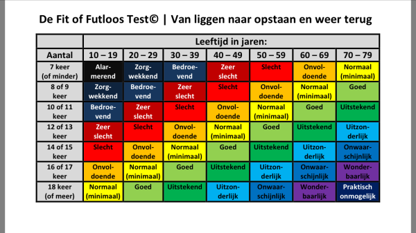 De Fit of Futloos Test (c) Bart Flos Veranderadvies